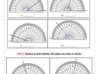 Angle measuring with protractor