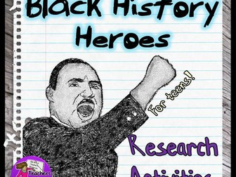 Black History Month: Research Activities for Teens