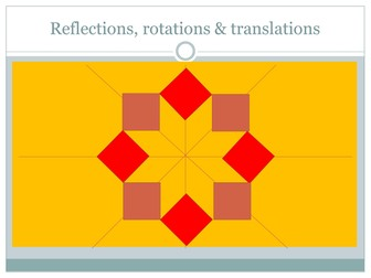 Reflections: moving shapes by corners