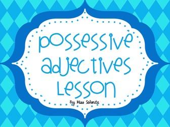 Spanish Possessive Adjectives Lesson