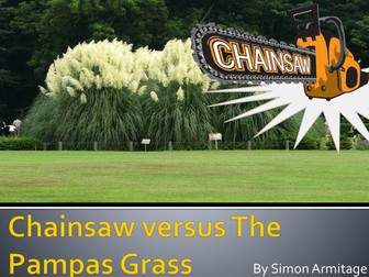 Chainsaw versus the Pampas Grass PowerPoint - Notes and Task