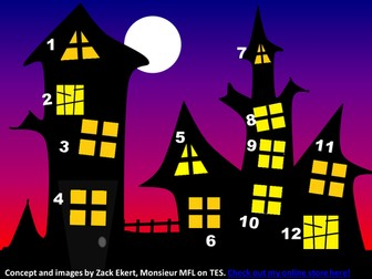 Halloween Spooky House Plenary Game Quiz