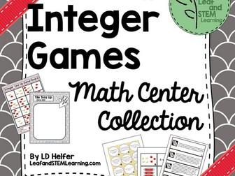 Integer Games Math Center Collection