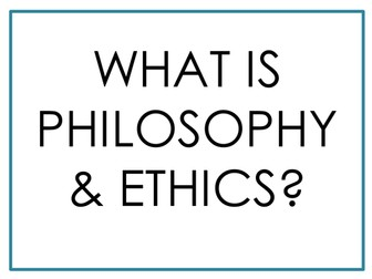 Philosophy and Ethics/ RE display