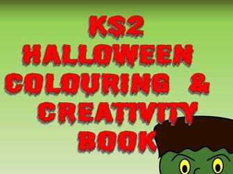 KS2 Halloween Creative Thinking and Colouring Book