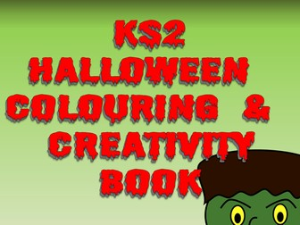 KS2 Halloween Creative Thinking and Colouring Book