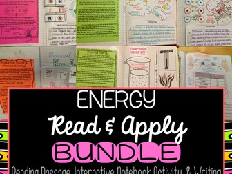 Energy Read & Apply Interactive Notebook BUNDLE