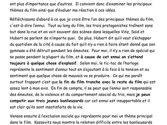 a level french la haine essay bundle by paul teaching a level french la haine french model essay main themes of film director and