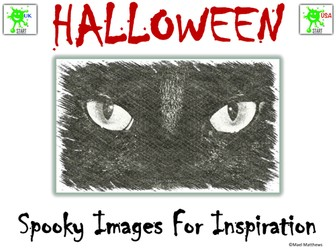 Halloween - Spooky Images for Colouring and Creative Writing