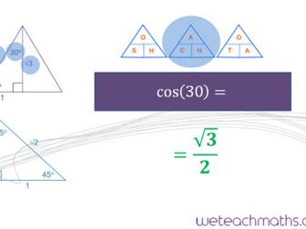 Finding and applying the 3 trigonometric ratios - GCSE Mathematics 1 - 9 (NEW CONTENT)