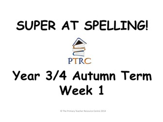 Year 3/4 Super at Spelling - Autumn Term Pack