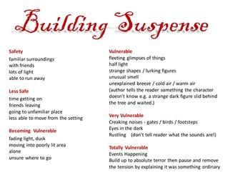 Building Suspense in Short Stories