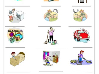 FRENCH - Household Chores - Le Ménage - Worksheets