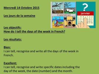 Days of the week with science and history about key dates