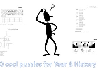 Year 8  History puzzles - one for each topic