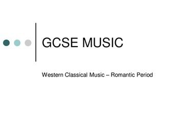 New AQA GCSE Music - Western-Classical-Music - The Romantic Period