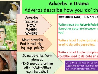 Adverbs in Drama