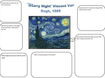 Van Gogh Starry Night Analysis worksheet