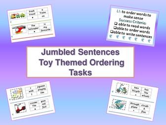 Jumbled Sentences - Whiteboard Presentations and Cut & Stick Activities