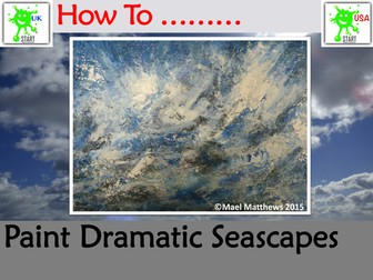 Painting. How to Paint a Dramatic Seascape
