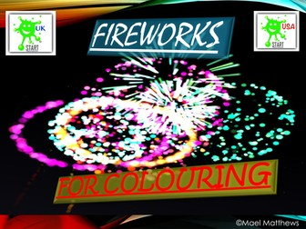 Bonfire Night Fireworks Colouring Book
