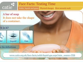 Testing Time – solids,  liquids and gases web activity