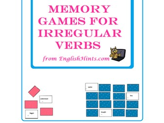 Memory Games for Irregular Verbs