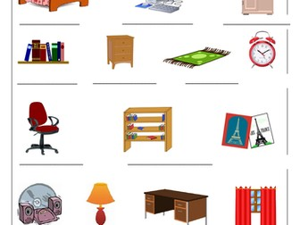 FRENCH - My Bedroom - Ma Chambre - Worksheets