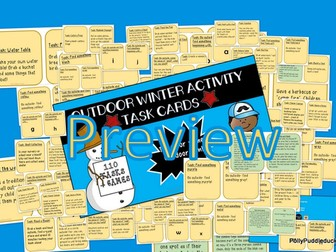 Outdoor Activity Task Cards and Games
