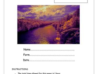 Descriptive Writing - Full Assessment including Insert and Mark Scheme