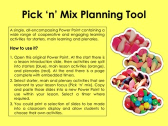 Lesson Planning: Pick 'N' Mix Tool