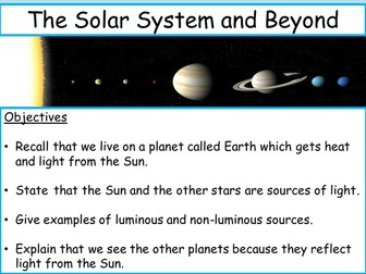 The Solar System - New (2015) KS3 fully differentiated topic WITH assessment.