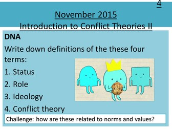 Sociology H580 / H180 Lesson 12 Introduction to Conflict Theories II: Weberism and Feminism