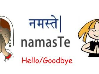 Hindi phrases for Classroom Display