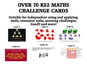 OVER 70 KS2 CHALLENGE CARDS