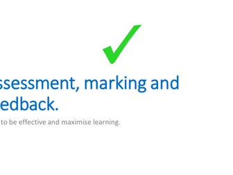 Assessment marking and feedback for new teachers