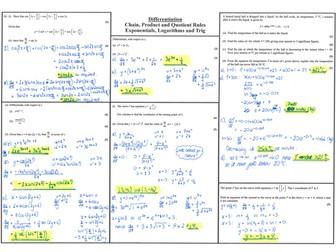 Core 3 - Differentiation Past Paper Questions (Edexcel)