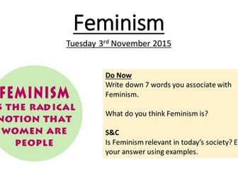 Anthropological Theory - Feminism