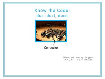"""Know the Code: Roots """"duc, duct, duce"""""""