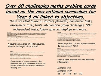 over 60 year 6 new curriculum Challenges