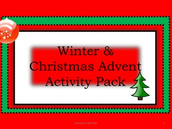 Christmas / Winter Activity Pack