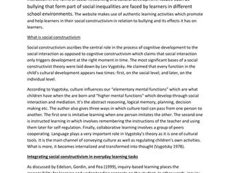 social constructivist theory