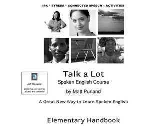 Spoken English Course ESL Elementary Teaching Resources:  Places in the UK (45 pages)