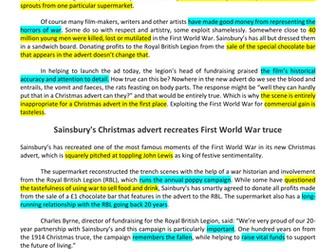 Christmas Adverts: Persuasive Writing