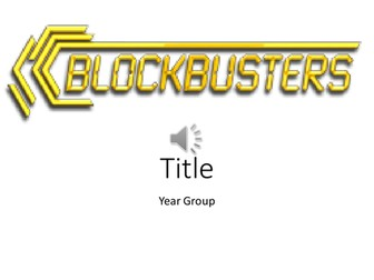 Blockbusters Game - Template