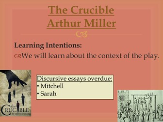 National 5 English The Crucible