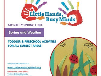 Spring Activities - Spring and Weather:  Monthly Thematic Unit