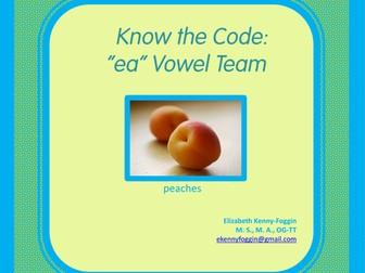 Know the Code: Vowel Team - ea (long vowel sound)