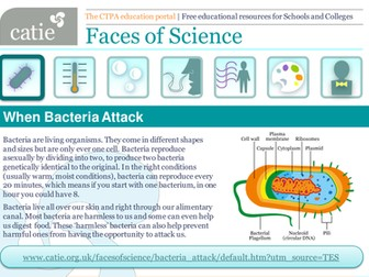 When Bacteria Attack! Web activity