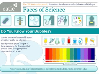 Do You Know Your Bubbles? pH scale and soaps web activity